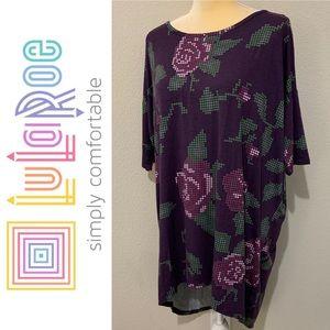 LuLaRoe Irma Floral High Low Oversized Shirt Sz M